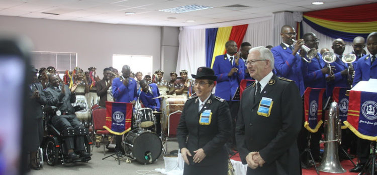 The General and Commissioner Rosalie Peddle Make Historic First Visit to Botswana