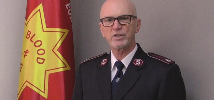 Полковник Келвін Петібрідж, Територіальний Командувач Східної Європи, запускає Стратегічний план Армії Спасіння Східної Європи